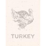 Day of Thanks Turkey Card 3x4