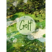 Golf Course 3x4 Card