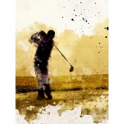 Golfer 3x4 Card