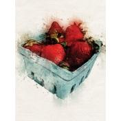 Strawberry Basket 3x4 Card