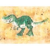 Good Life: June- 3x4 card- dinosaur
