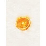 Orange Half 3x4 Card