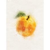 Orange with Leaf 3x4 Card