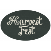 Thankful Harvest Chalkboard Label