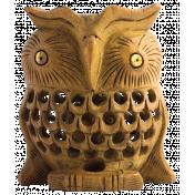 Thankful Harvest Wooden Owl