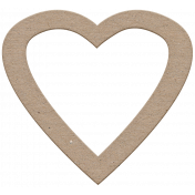 Reflections Chipboard Heart