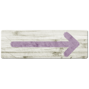 Country Wedding Painted Arrow Purple