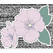 Country Wedding Flower Sticker