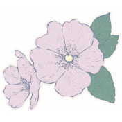 Country Wedding Flower Sticker