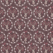Cashmere & Cocoa Deer Wreath Paper Dark