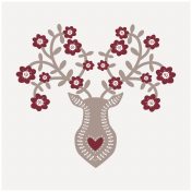 Cashmere & Cocoa Deer Journal Card