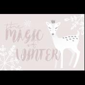 Cashmere & Cocoa Winter Magic Journal Card