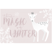 Cashmere & Cocoa Winter Magic Journal Card