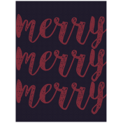 Cashmere & Cocoa Merry Journal Card