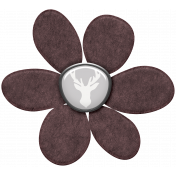 Cashmere & Cocoa Large Felt Flower