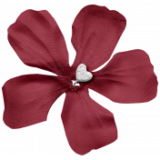 Cashmere & Cocoa Heart Flower