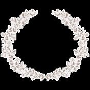 Cashmere & Cocoa Wreath Sticker