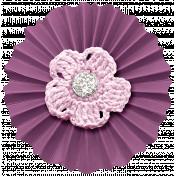 Friendship Day- Purple Accordion Flower