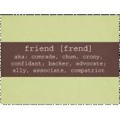 Friendship Day- Journal Card 2