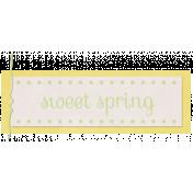 Sweet Spring- Word Tag