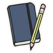 Work From Home- Pencil Book Sticker