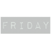 Work From Home- Friday Word Label Gray