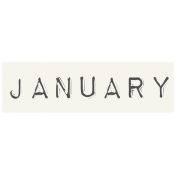 Work From Home- January Word Label White