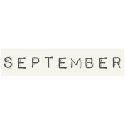 Work From Home- September Word Label White