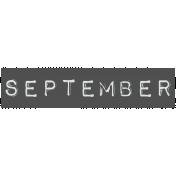 Work From Home- September Word Label Black