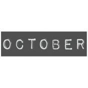 Work From Home- October Word Label Black