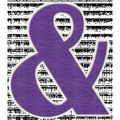 Better Together- Large Purple Ampersand