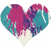 Better Together- Imperfect Painted Heart