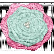 Shabby Wedding- Burlap Flower