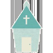 Shabby Wedding- Church Sticker