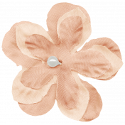 Shabby Wedding- Fabric Flower Peach