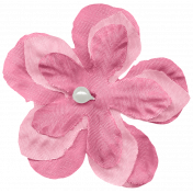 Shabby Wedding- Fabric Flower Pink