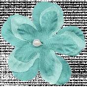 Shabby Wedding- Fabric Flower Teal