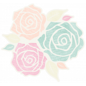 Shabby Wedding- Flowers Sticker