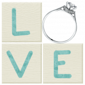 Shabby Wedding- Love Blocks