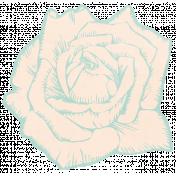 Shabby Wedding- Paper Flower Teal