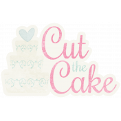 Shabby Wedding- Cut the Cake Sticker