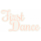 Shabby Wedding- First Dance Sticker