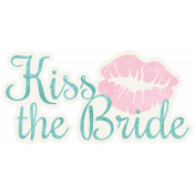 Shabby Wedding- Kiss the Bride Sticker