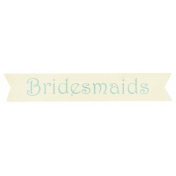 Shabby Wedding- Bridesmaids Label