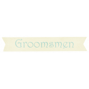 Shabby Wedding- Groomsmen Label