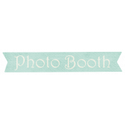 Shabby Wedding- Photo Booth Label