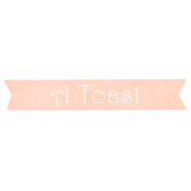 Shabby Wedding- Toast Label