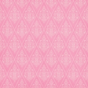 Shabby Wedding- Pink Damask Paper
