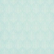 Shabby Wedding- Teal Damask Paper