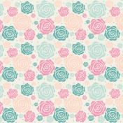 Shabby Wedding- Floral Paper 2